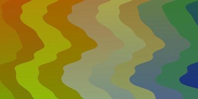 diseño de vector multicolor claro con curvas.