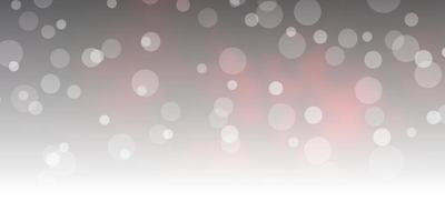Dark Red vector background with circles.