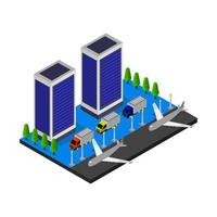 Airport Isometric In Vector On White Background