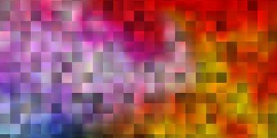 patrón de vector multicolor claro en estilo cuadrado.