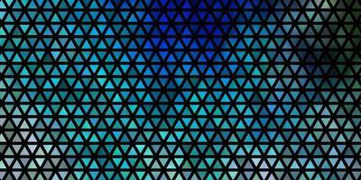 diseño de vector azul claro, verde con líneas, triángulos.