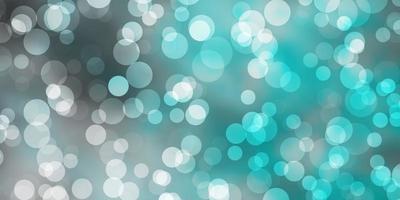 plantilla de vector azul claro con círculos.