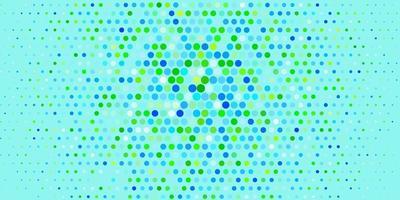 patrón de vector azul claro, verde con esferas.