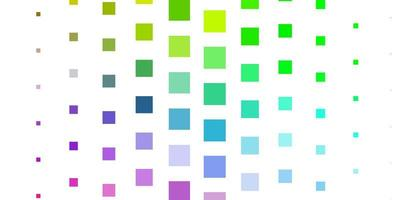 Light Multicolor vector backdrop with rectangles.