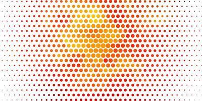 plantilla de vector naranja claro con círculos.