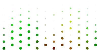 Fondo de vector verde claro con puntos