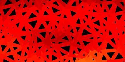 patrón de triángulo abstracto vector naranja oscuro.