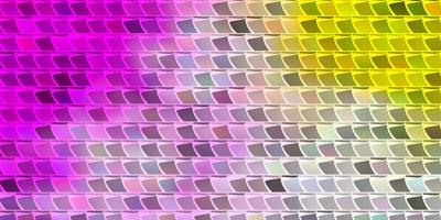 Light Pink, Yellow vector background with rectangles.