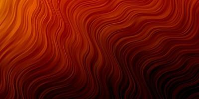 Dark Orange vector template with lines.