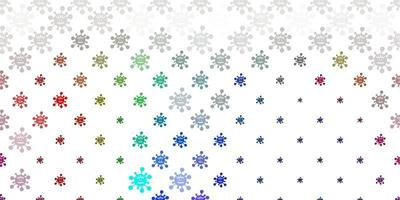 textura de vector multicolor claro con símbolos de enfermedad