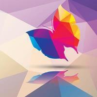 Geometric polygonal butterfly vector