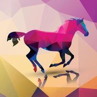 Geometric polygonal horse vector