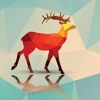 Geometric polygonal deer vector