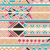 patrón bohemio colorido étnico tribal con elementos geométricos, tela de barro africano vector