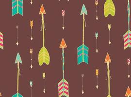 Bohemian hand drawn arrows seamless pattern vector