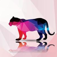 Geometric polygonal leopard vector
