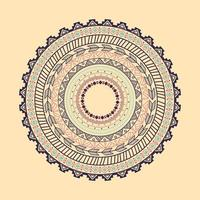 Ethnic Aztec circle ornament
