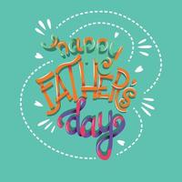 Happy Fathers Day, hand lettering typography modern poster design