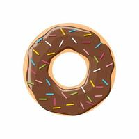 Poster design with colorful glossy tasty donut vector