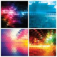 Collection of abstract geometric colorful pattern background vector