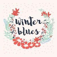 colorida colección de arreglos florales de invierno y flores para invitaciones, bodas o tarjetas de felicitación vector