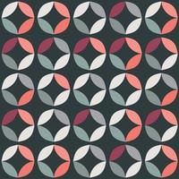 Geometric seamless pattern with colorful circles in retro design vector