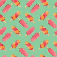 Ice cream seamless pattern, colorful summer background, delicious sweet treats, vector