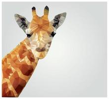 Geometric polygonal giraffe, triangle pattern design, vector illustration