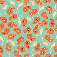 Seamless pattern with flowers and floral elements, nature life vector