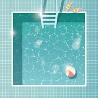 piscina, vista superior, vacaciones de verano vacaciones