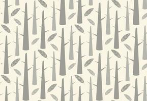 Tree forest with feathers seamless pattern vector