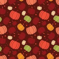 Thanksgiving and autumn seamless pattern with pumpkins