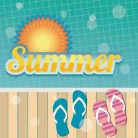 Summer holiday banner