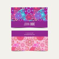 Template business cards pattern with Islamic morocco pattern. vector
