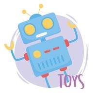 toys object for small kids to play cartoon robot vector