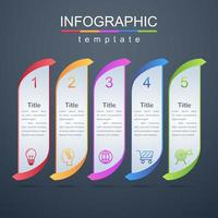 Modern infographic corporate and business template