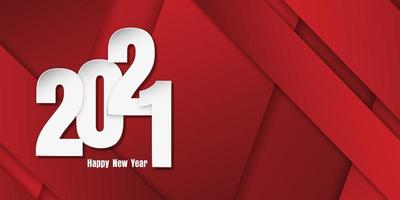 Happy New Year banner with paper cut style numbers