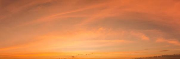Sky and clouds at sunset photo