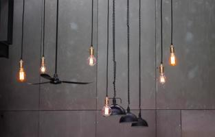 Industrial lights on a gray background