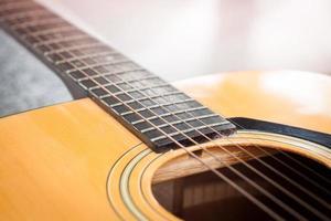 cuello de una guitarra