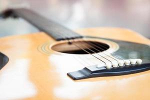 Detailed shot of a guitar