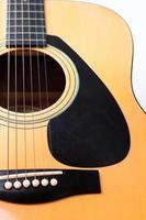 primer plano, de, un, guitarra