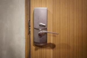Close-up of a  door handle photo