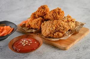 Crispy fried chicken tenders photo