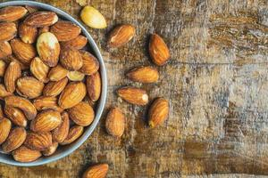 Almonds in a bowl photo