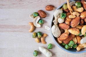 Bowl of mixed nuts photo
