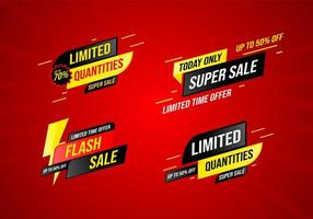 collection of sale banner design template vector