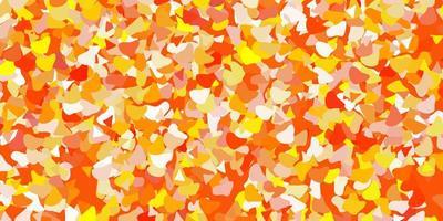 textura de vector naranja claro con formas de memphis.