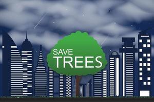 conceptos de conservación de árboles y plantación de árboles para el medio ambiente vector