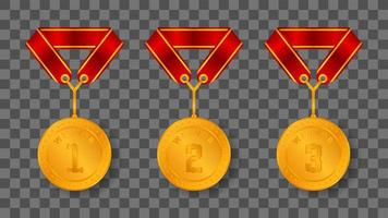 gold medal illustration vector